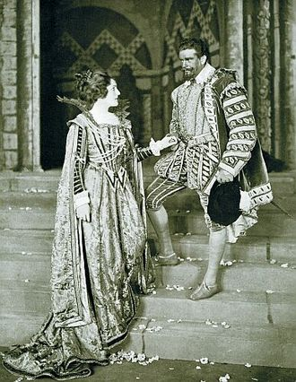 Lyn Harding - Harding as Sir Francis Drake in the 1912 play Drake, with Amy Brandon Thomas, at His Majesty's Theatre, London