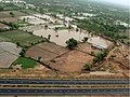 An aerial view taken from the IAF relief Helicopter of the flood-affected areas in Gujarat on July 3, 2005 (9).jpg