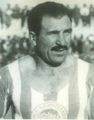 Olympiacos F.C. - Andreas Mouratis captained Olympiacos and played in 295 games for the club (1945–1955)