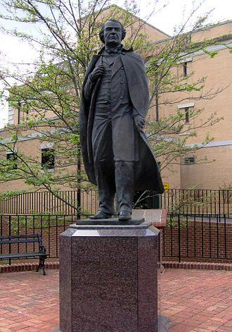 Andrew Johnson National Historic Site - Statue of President Andrew Johnson at the Andrew Johnson National Historic Site