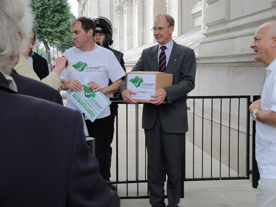 Andrew Turner outside Downing Street