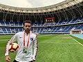 Angel Toledano during China Super League game 2019.jpg