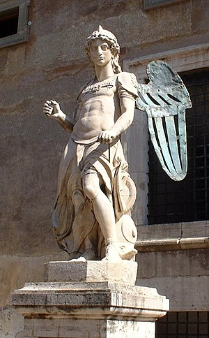 Raffaello da Montelupo - St. Michael (c. 1536) for the top of Castel Sant'Angelo, Rome.