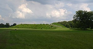 Angel Mounds - Mound A, Angel Mound Site, Evansville, Indiana.