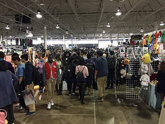 Anime North - A view of some booths at the event.