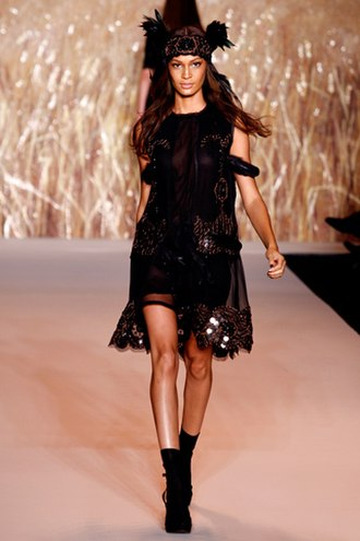 Joan Smalls - Joan Smalls for Anna Sui Spring/Summer 2011.