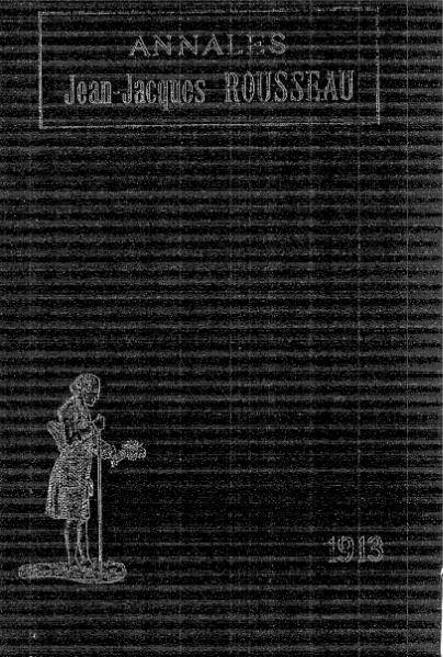 File:Annales de la société Jean-Jacques Rousseau, tome 9.djvu