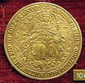 Anonimo, med. di eleonora del portogallo (1434-63), xvii sec, oro.JPG