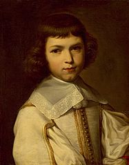 Portrait of a boy in white doublet.