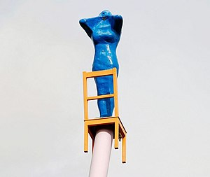 The Calling (McCann sculpture) - Image: Another woman on a chair, Belfast geograph.org.uk 1236600