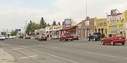 Main Street in Anthony, NM