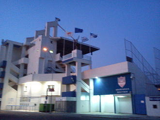 Anorthosis Famagusta FC - The east side of the stadium at evening