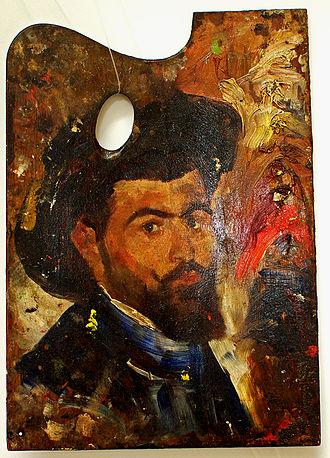 Apcar Baltazar - Self-portrait on a palette