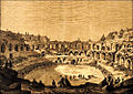 Arènes de Nîmes première corrida en 1853.jpg