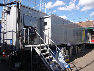 Audio signal flow - An example of a broadcast truck.