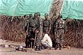 Army Jawans marking the area to erect the new huts for Tsunami affected at Thevanampatti in Cuddalore.jpg
