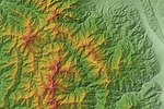 Around Mount Kitadake Relief Map, SRTM-1.jpg