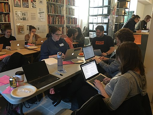 Art+Feminism Edit-a-thon at Interference Archive 02