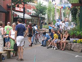 A view of State College's downtown during the 2005 Central Pennsylvania Festival of the Arts