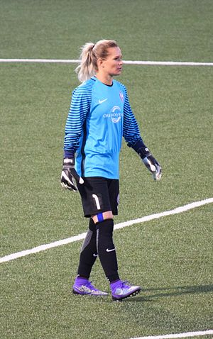 Ashlyn Harris - Harris with the Orlando Pride during a match against WNY Flash at Sahlen's Stadium on June 11, 2016.