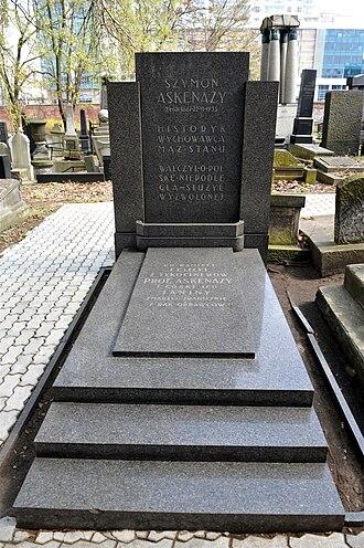 Szymon Askenazy - Askenazy's grave at Okopowa Street Jewish Cemetery, Warsaw