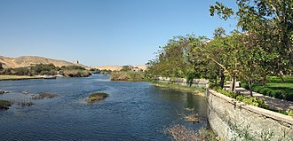 Economy of Egypt - The Nile river at Aswan.