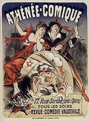 Théâtre de l'Athénée (rue Scribe) - Poster by Jules Chéret (1876)