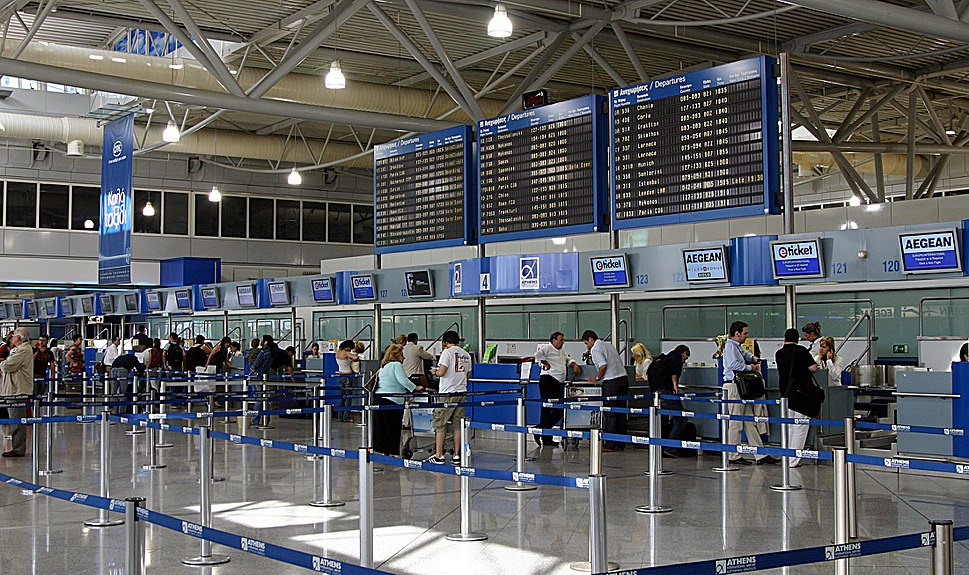 Athens International Airport check in desks