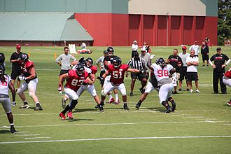 Training camp (National Football League) - The Atlanta Falcons scrimmaging at their training camp in Flowery Branch, Georgia, July 2016.