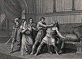 Atleta Narciso strangling Comodo. Engraving by G. Mochetti a Wellcome V0041508 (cropped).jpg