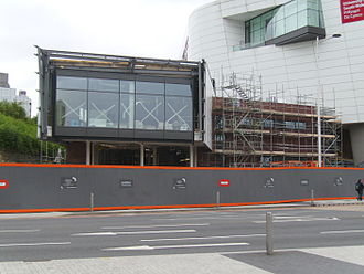 Atrium, Cardiff - Phase 2A during construction in May 2014