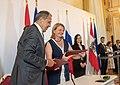 Außenministerin Karin Kneissl bei der Unterzeichnung des Doppelbesteuerungsabkommens mit dem russischen Außenminister Sergej Lawrow (41713596185).jpg