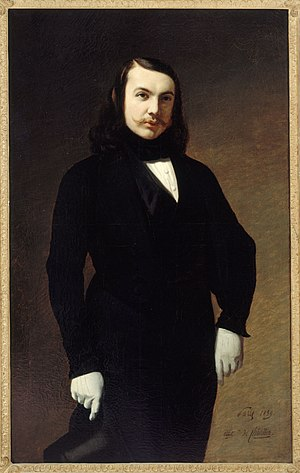 Portrait of Theophile Gautier, by Auguste de Chatillon, 1839. Portrait of Theophile Gautier.jpg