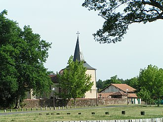 Aureilhan, Landes - The church of Aureilhan