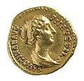 Aureus van Faustina II onder Antoninus Pius in goud, 147 tot 150 NC, vindplaats- Onbekend, collectie Gallo-Romeins Museum Tongeren, ST 1046, 006.jpg