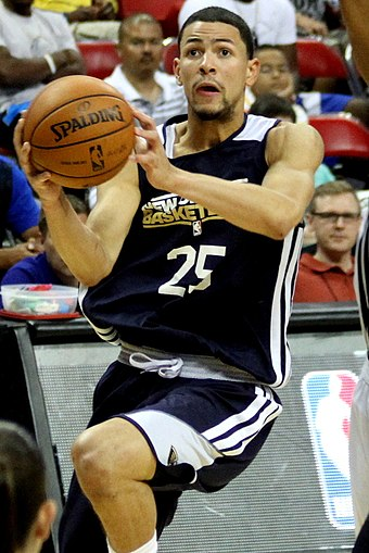 Rivers with the Pelicans during the NBA Summer League 2013 Austin Rivers Pelicans Summer League 2013.jpg