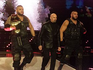 Paul Ellering - Ellering (center) with The Authors of Pain in February 2017