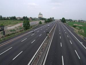 Autostrada A1 (Italy) - Highway at Reggio Emilia