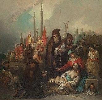 Federico de Madrazo y Kuntz - Image: Auxilio a unos apestados Federico Madrazo