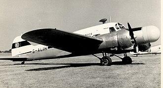 Avro Anson - Anson 11 G-ALIH of Ekco Electronics at Blackbushe, Hants, in September 1955