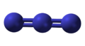 Ball-and-stick model of the azide anion