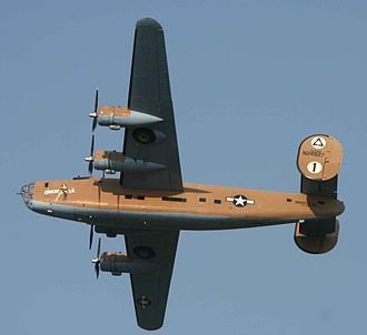 "Commemorative Air Force - B-24 ""Diamond Lil"" from the Commemorative Air Force collection. Airframe was returned to B-24A configuration in 2007."