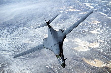 USAF Rockwell B-1 Lancer supersonic, swing wing strategic bomber. B1s.jpg