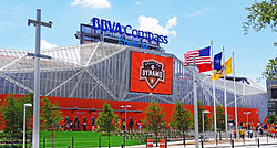 BBVA Compass Stadium, North Facade.JPG