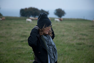 Annabel Linquist - Annabel Linquist in a Swedish meadow. Photo by Daniel Karlsson.