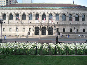 Copley Square - The Boston Public Library's McKim Building, seen across Dartmouth St. from the Square