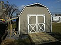 Backyard shed Our Community Place future home of Everyday Bikes Harrisonburg VA March 2008.jpg