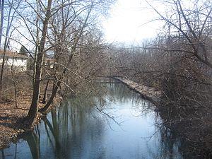 Flemington, Pennsylvania - Remnant of the Bald Eagle Crosscut Canal in Flemington