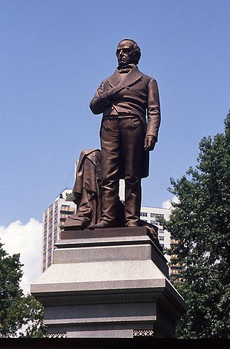 Thomas Ball (artist) - Daniel Webster (1868), Central Park, New York City.
