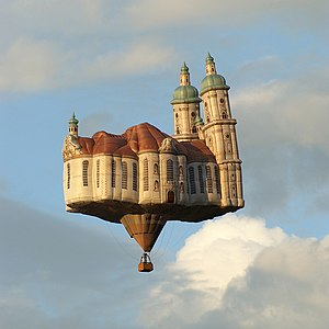 Hot air balloon - Hot air balloon shaped as the Abbey of Saint Gall